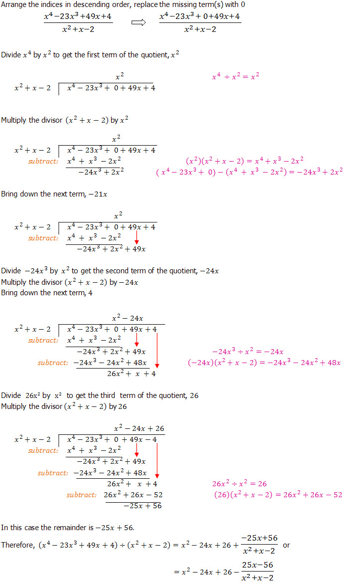 Algebraic Long Division - An Introduction - Dividing ...